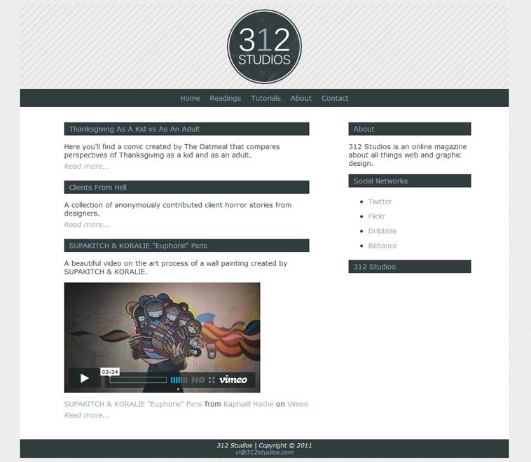 312 Studios Design Layout
