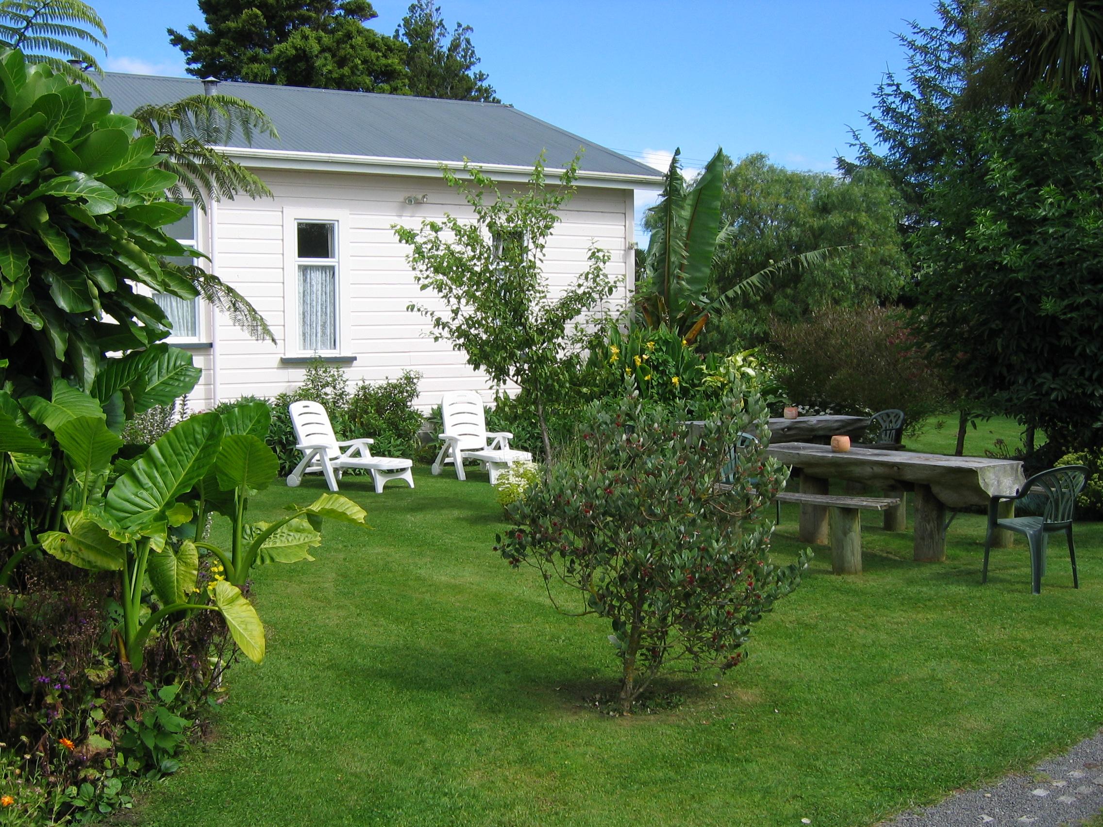 Sun loungers in gardens