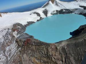 Crater lake Mt Ruapehu 87k from Braemar House