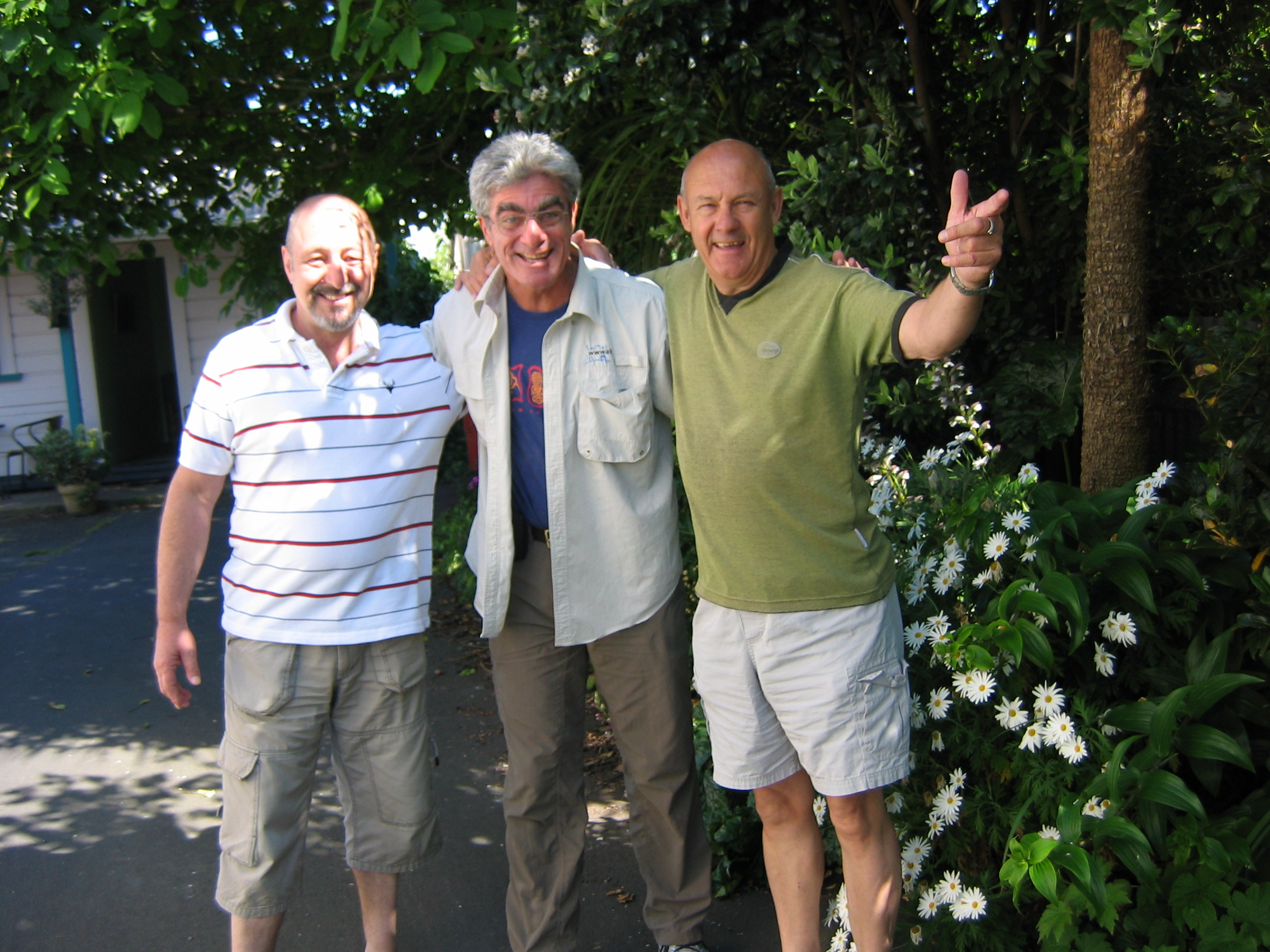 Management: Rob (Left) and Clive (Right) Braemar House with Guest