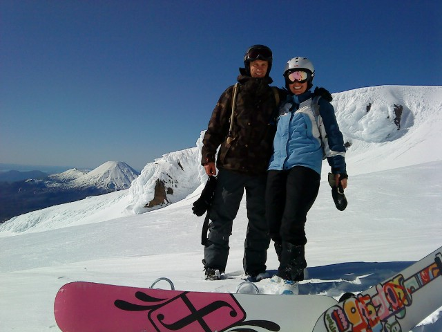 Guests from braemar House enjoying a day on the ski slopes..