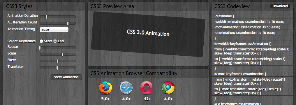 CSS3 Animation Maker