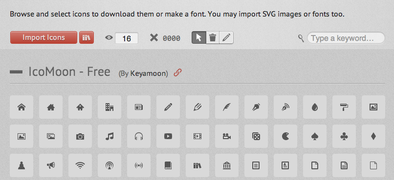 IcoMoon Icon Font Builder App