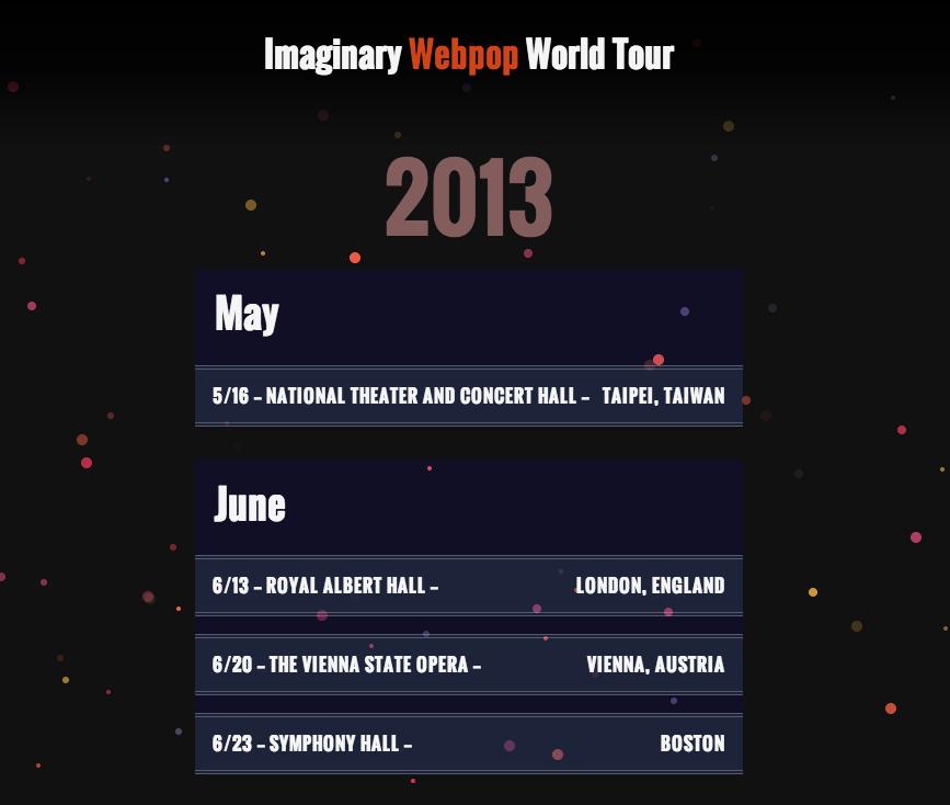 Tour Dates Theme