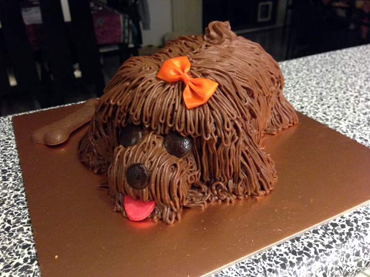 A Chocolate Dog Cake From Breadtop Retails At 2500 Each Which You Can Either Order Prior To Pick Up Or Just Purchase One Their Display Window
