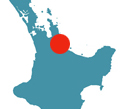 Location of Kaimai Country Lodge