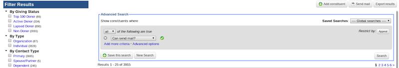 Can send mail search criteria in LGL