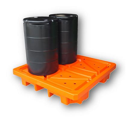 4 drum spill containment pallet bund Plast-ax