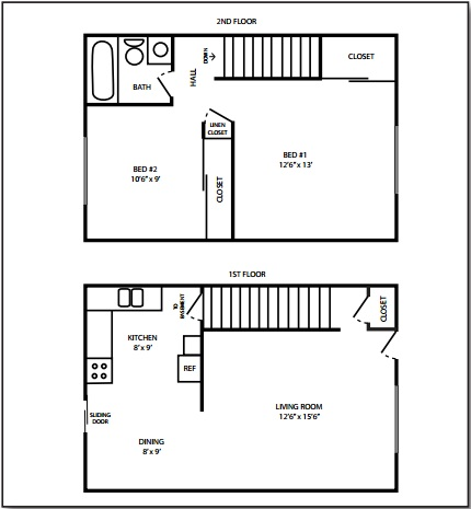 Russell Townhouse Floorplan