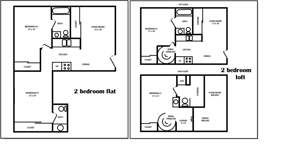 East Market 2 Bedroom Floorplan
