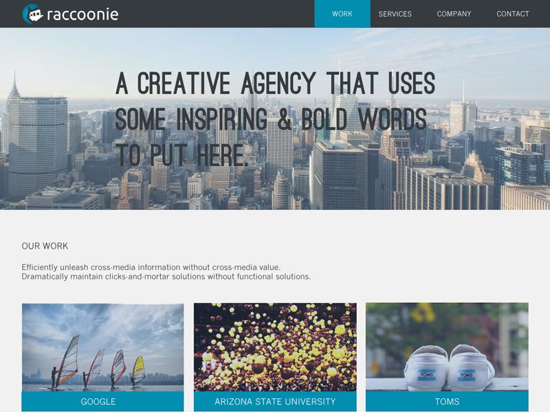 raccoonie homepage