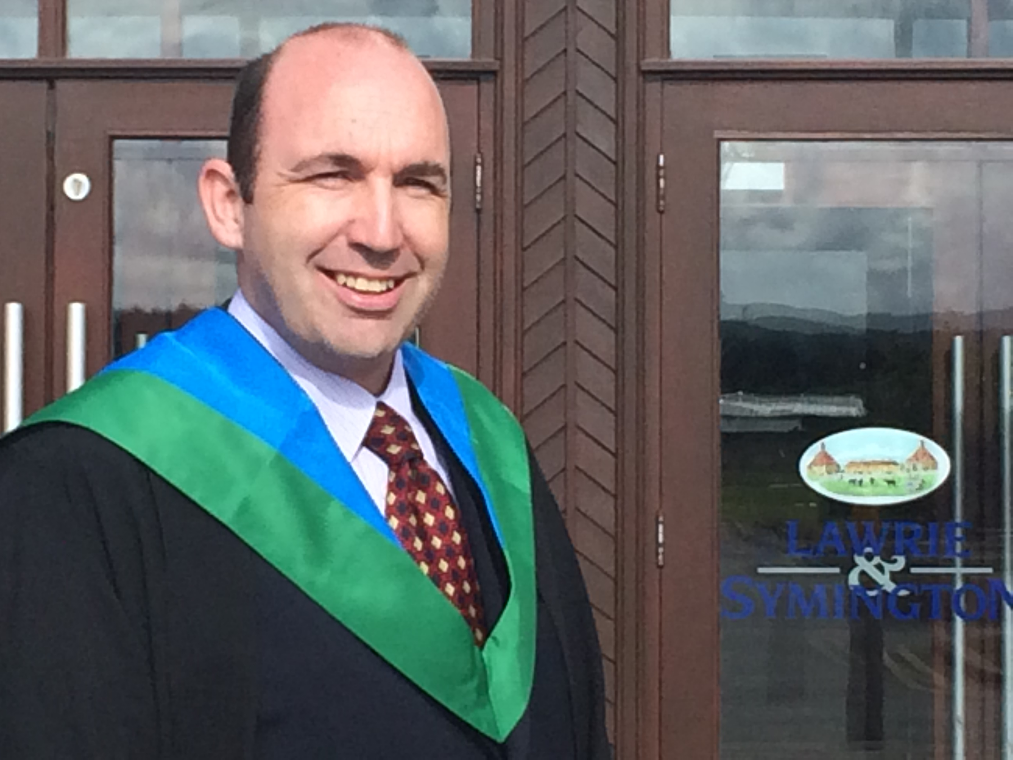 Congratulations to Alistair Muirhead who has graduated with an Honours Degree in Property Management and Valuation from Glasgow Caledonian University after five years of part time study.