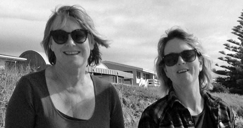 Naomi and Heather at Waihi Beach