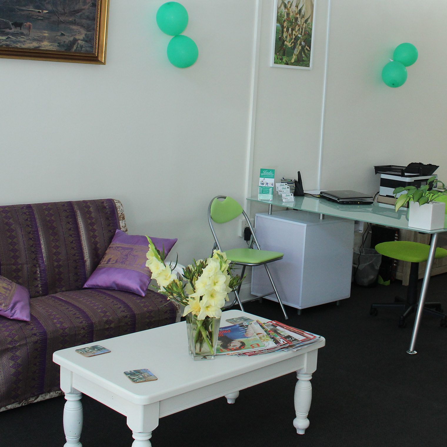Reception and customer lounge Jade Wanganui