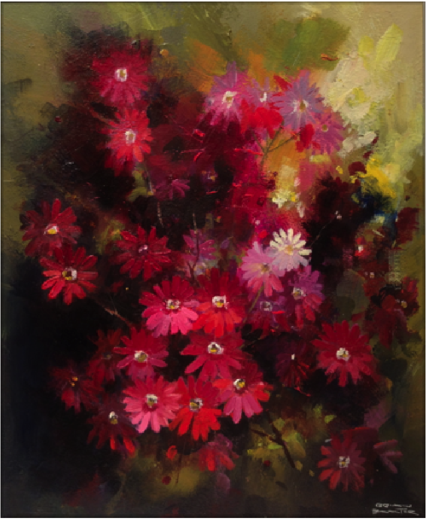 Red Daisies by Brian Baxter