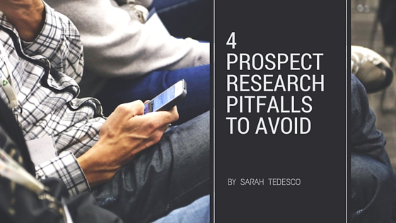 Prospect research pitfalls