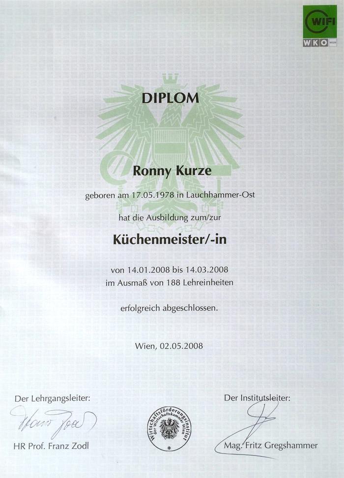 Ronny Kurze - Diploma