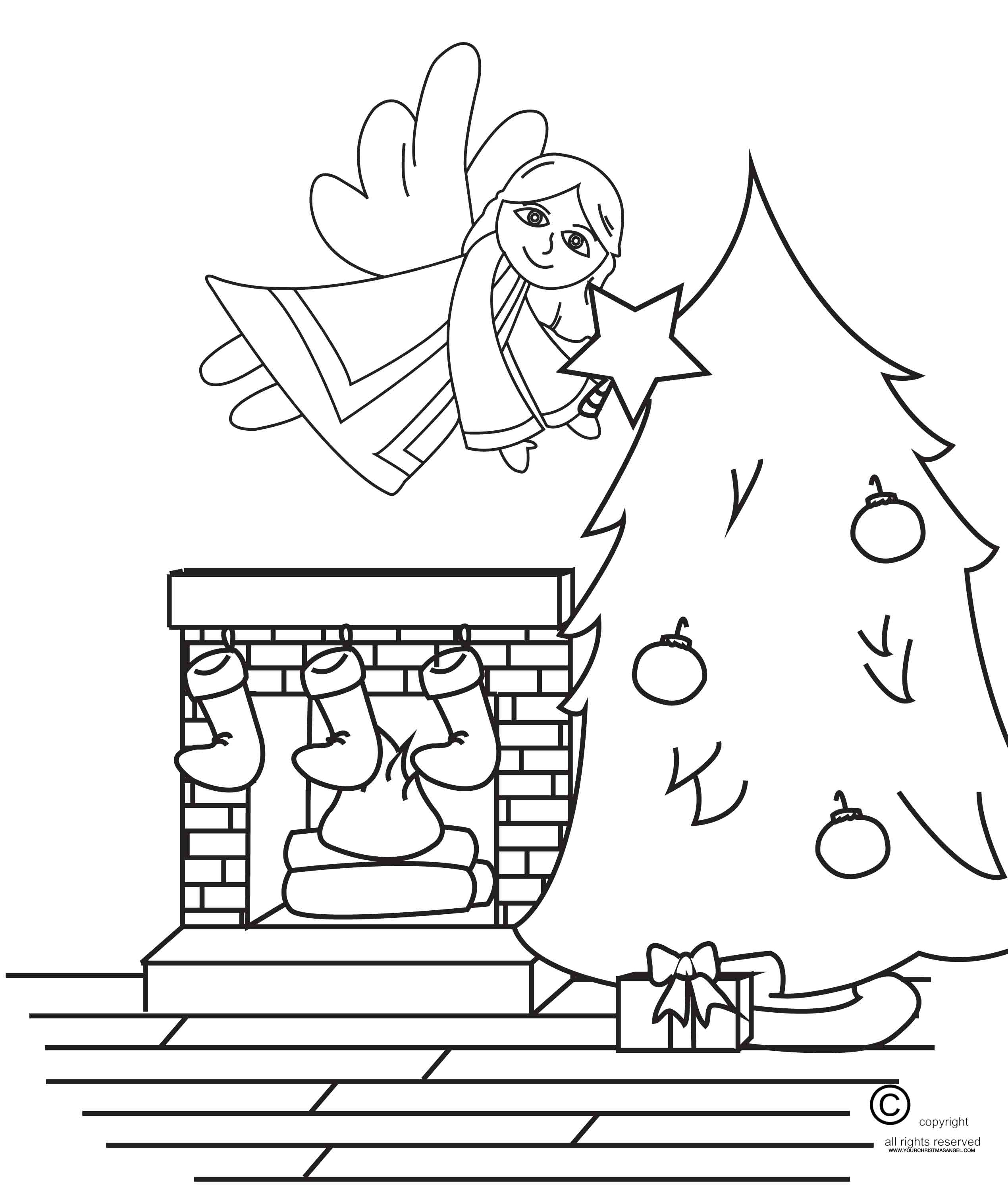 The Christmas Angel Coloring Page