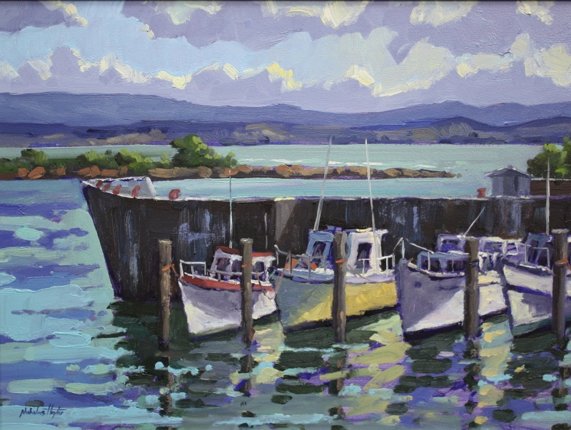 Ahuriri Boats by Nicholas Hayter