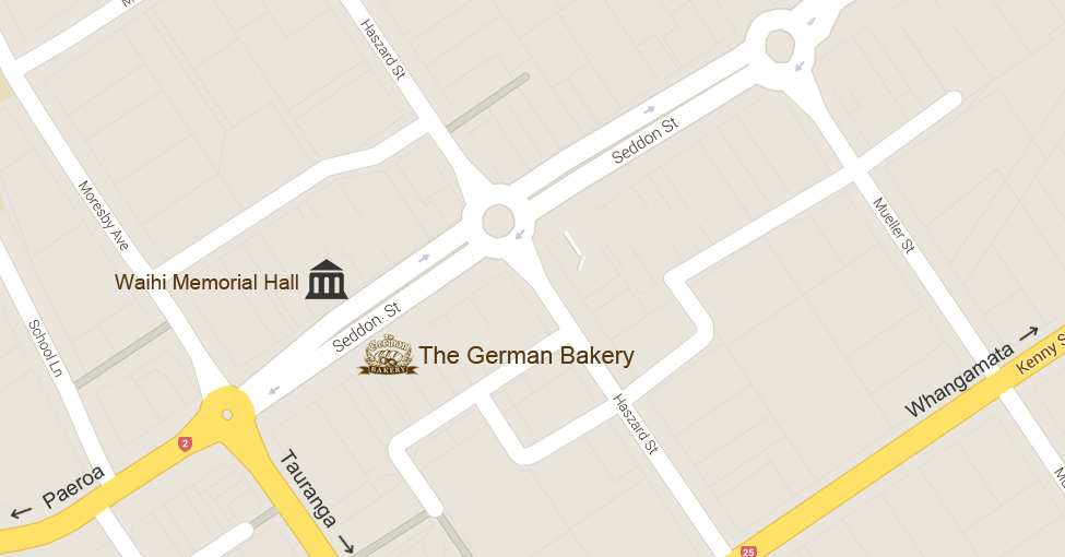 The German Bakery Map