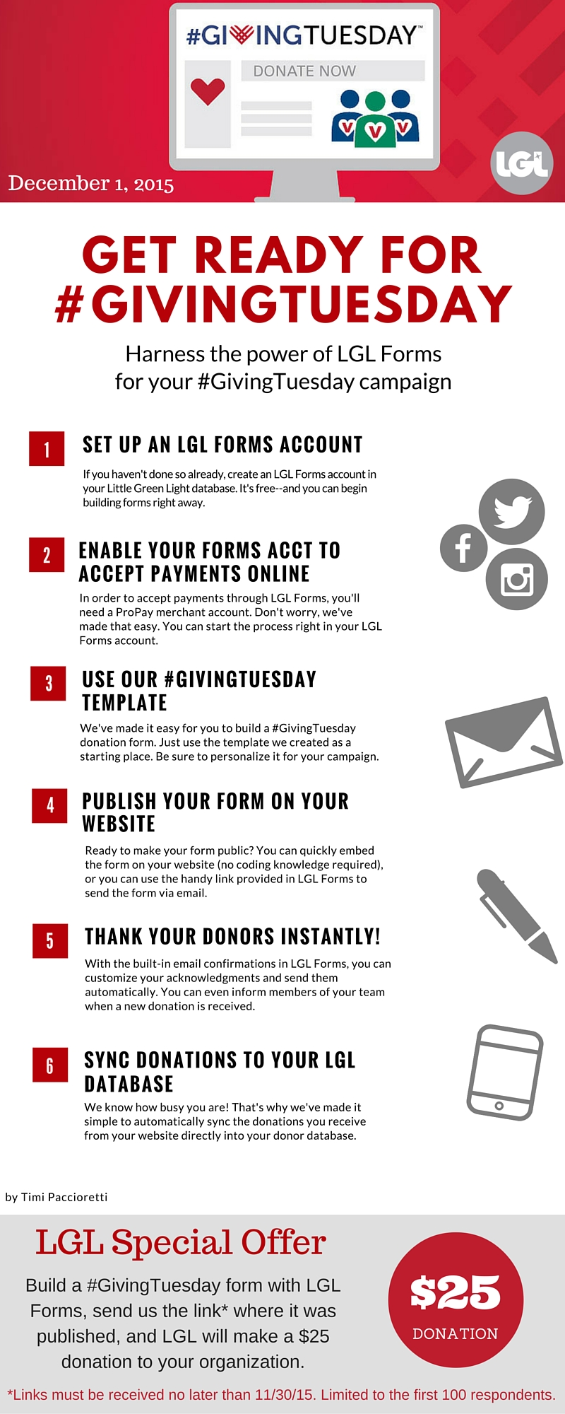 LGL #GivingTuesday infrographic