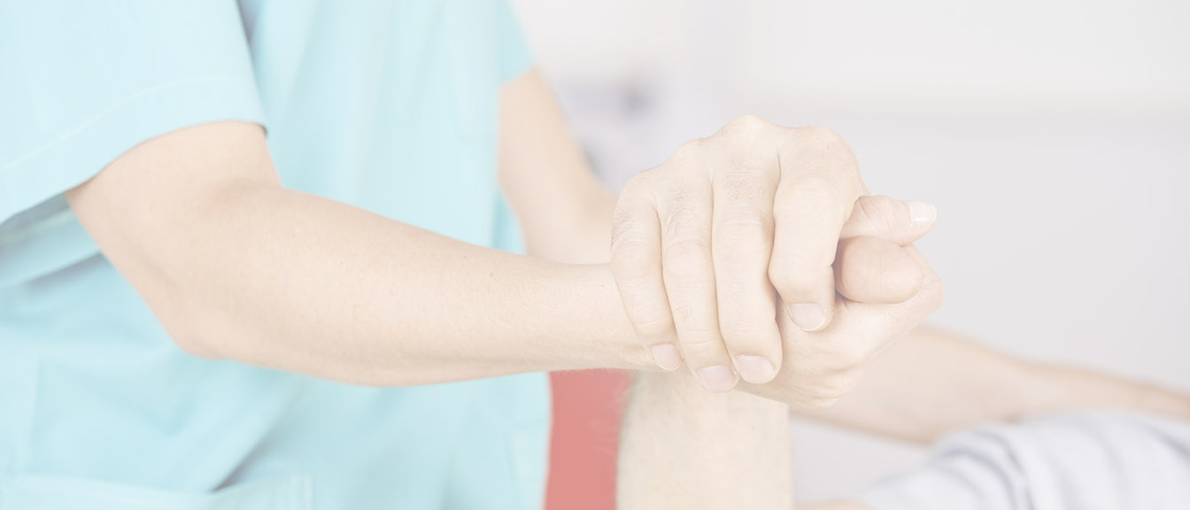 VPA physician holding a patient's hand