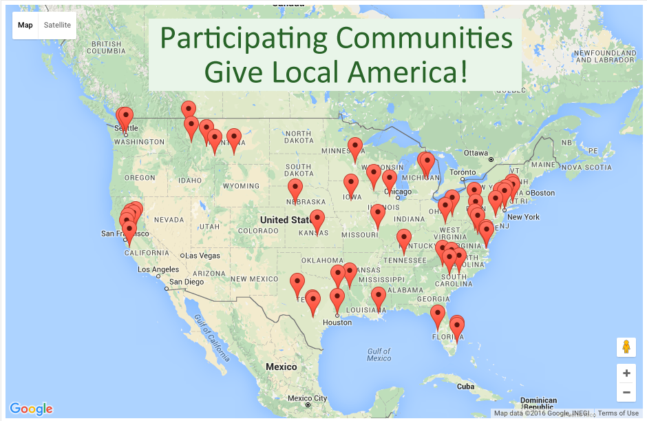 Give Local America participating communities