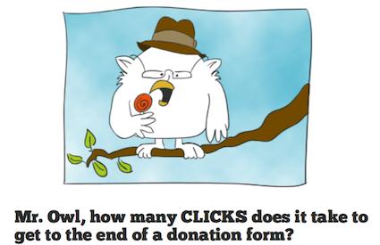 how many clicks to donate