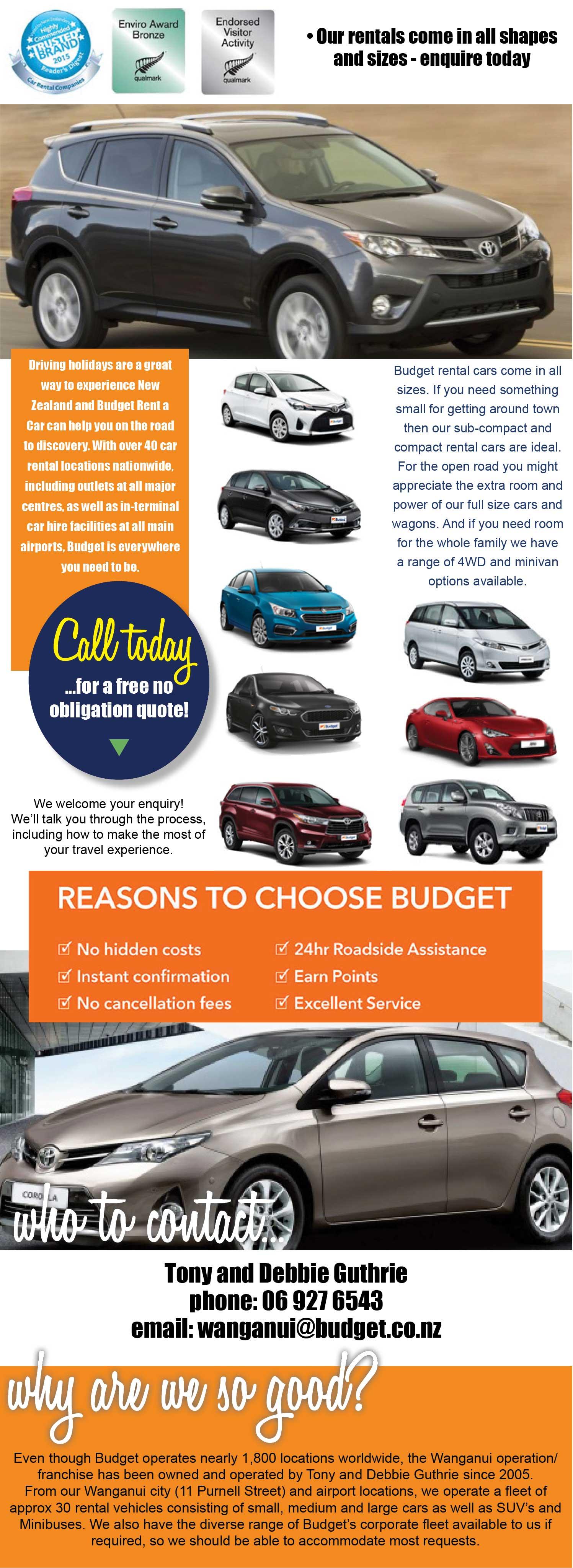 Car rental. Van rental. Truck rental. Budget Rental Cars Wanganui. Rental Cars Wanganui