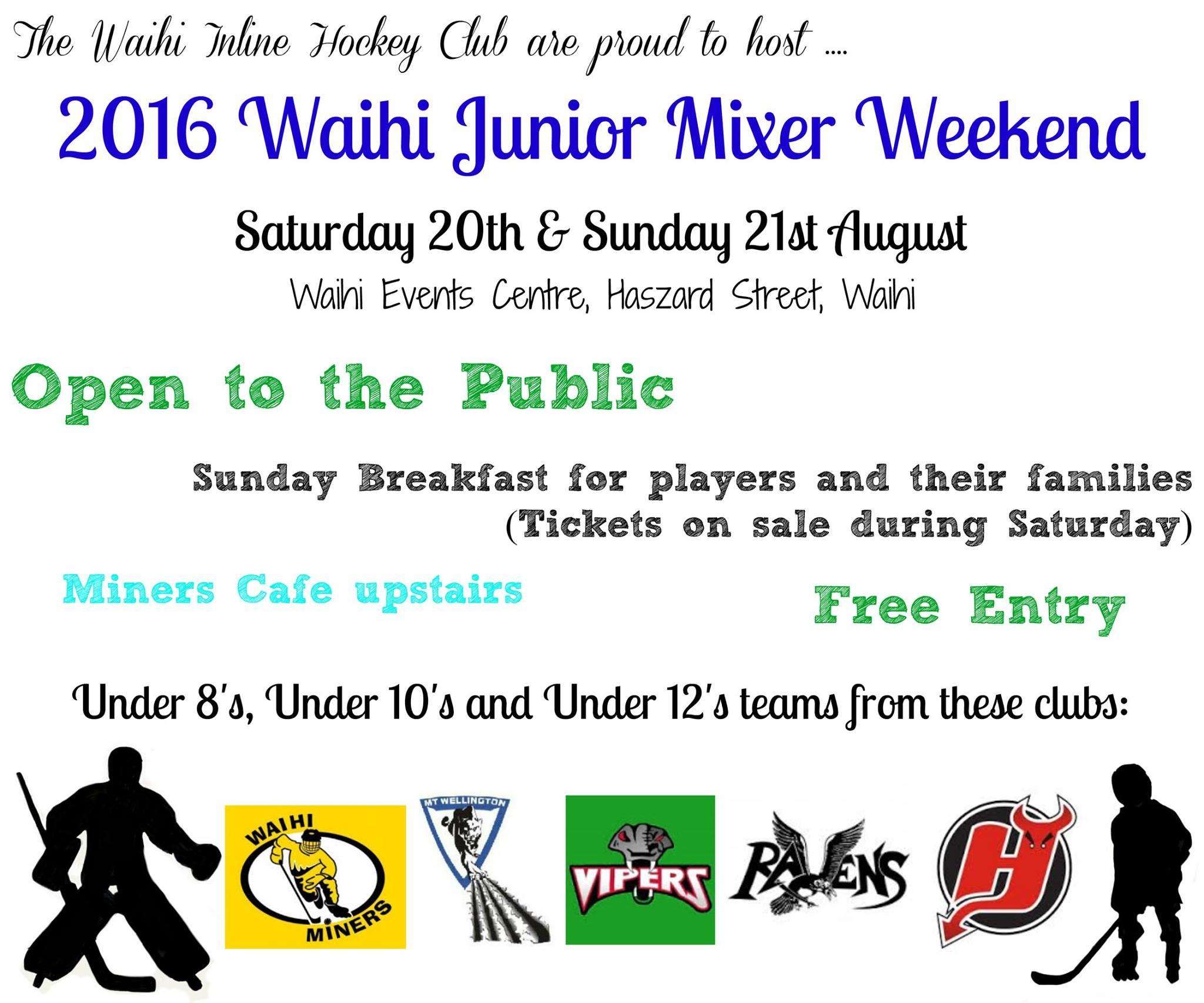 Junior Mixer Weekend Poster 2016