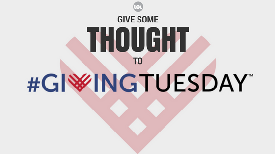 Give some thought to #GivingTuesday