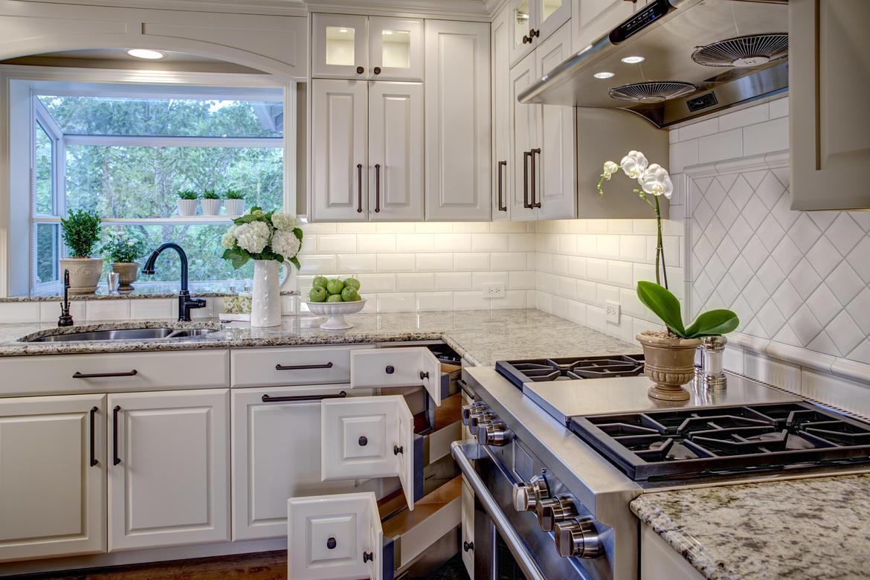 new hardware transforms a kitchen