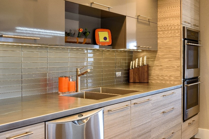 custom stainless steel counters are a sleek surface alternative