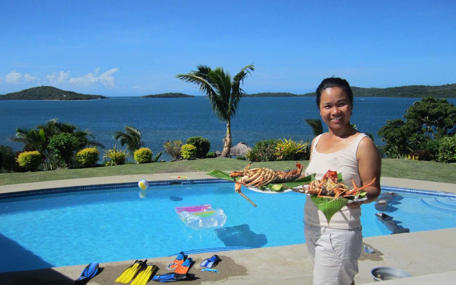 Fiji Villa dining