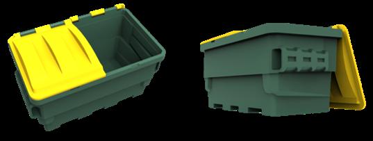 Plastic FEL Mini Skip 1.5 Cube Enviro Waste & Recycling