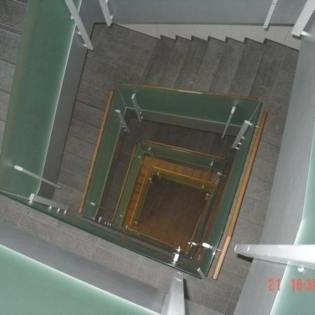 Treppengeländer Glas