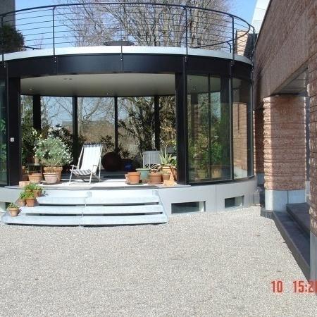 Wintergarten runde Glasfront
