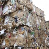 Tonnes of waste paper and cardboard is ready to be shipped for recycling.