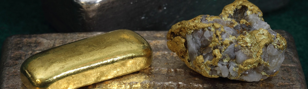 Gold in quartz - most gold in Waihi is quartz based bullion.