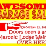 Masonic Garage Sale