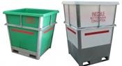 steel framed bins