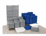 Meat tubs-fish bins-tote trays, Plast-ax