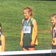 REBECCA BAKER: GOLD MEDAL 1500mtr run at NZSS Athletic Champs in Hastings, 1 & 2 Dec 2017.