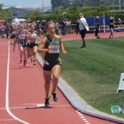 REBECCA BAKER running in the Jnr Girls 1500 mtr, NZSS Athletic Champs in Hastings WINNING GOLD.. #1 IN NZ, 1 & 2 Dec 2017.