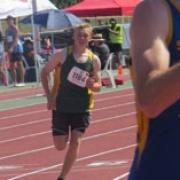 Travis Bayler at NZSS Athletics Champs, 400 mtr senior boys race - 6th in NZ!