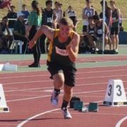 Ethan Cox at NZSS Athletics Champs.