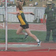 Sophie Andrews at NZSS Athletics Champs, Discus throwing.