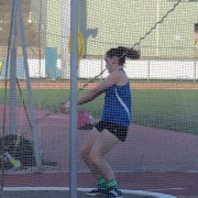 Sophie Andrews threw a school record (40.67) in the Intermediate Girls Hammer for a great 5th placing, NISS Athletics 17-19 April 2017.