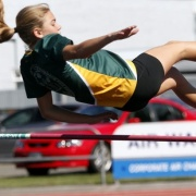 Promising track runner Paris Munro proved she was also a dab hand at high jumping during the WHS Jnr Track & Field Champs at Cooks Gardens, Chron 2/3/17