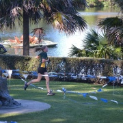 'Round the Lake Relay' at Virginia Lake, 11/9/17.
